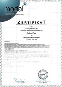 Zertifikat Modal Seminar